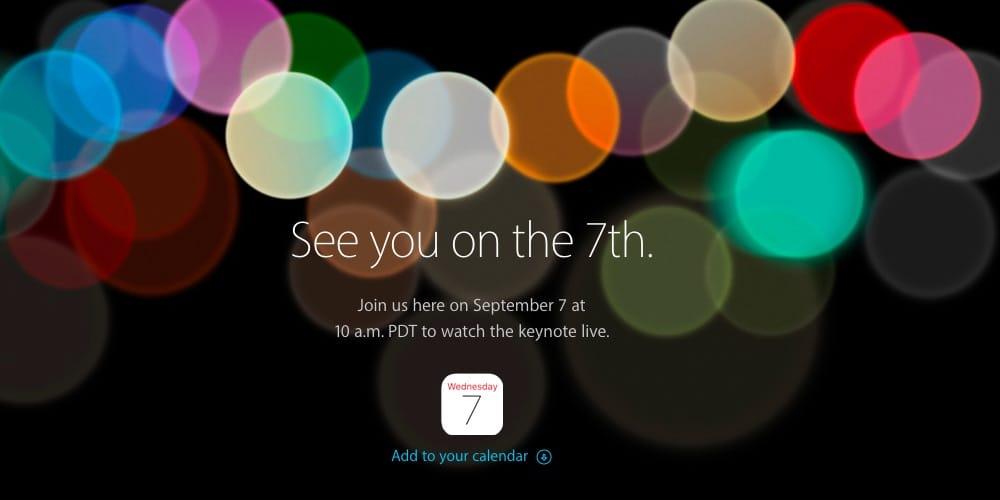 Apple、9月7日の発表イベントを告知! とうとうくるか、新型iPhone‼︎