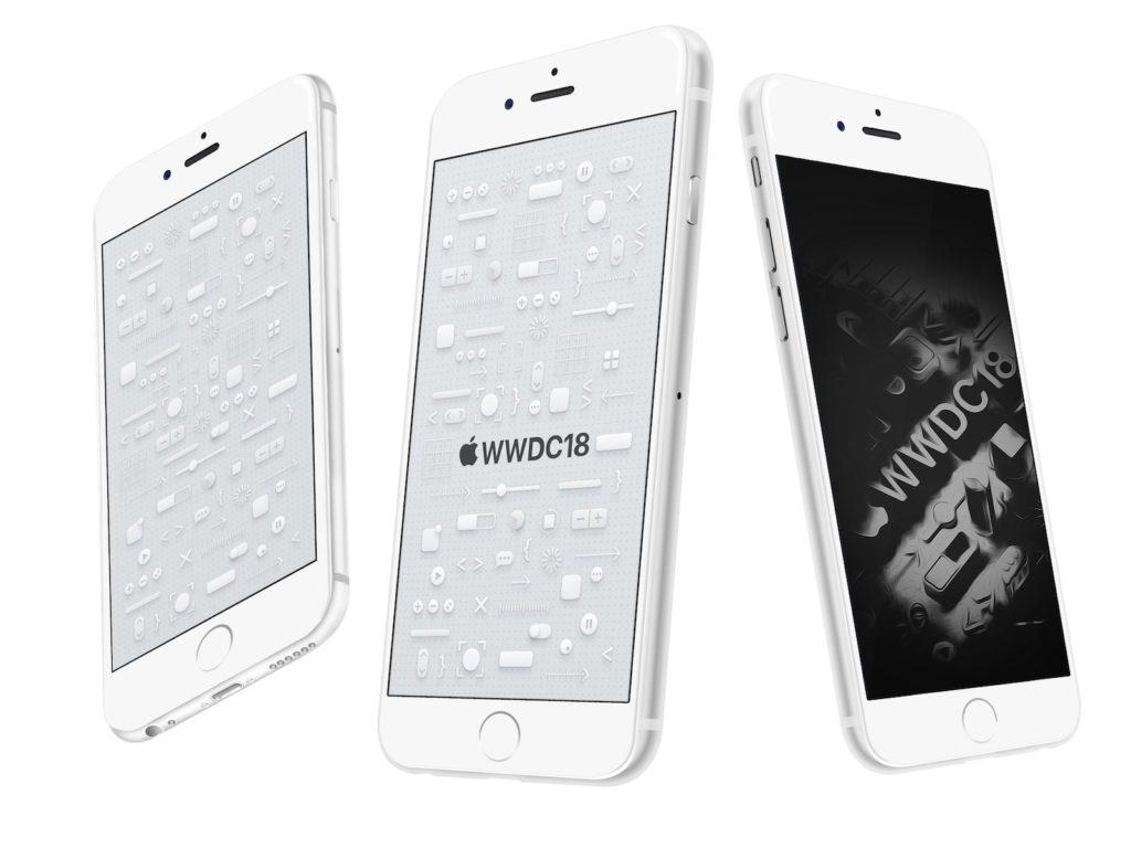 WWDC 2018 デザインのiPhone用壁紙が公開! さっそく設定してみた!