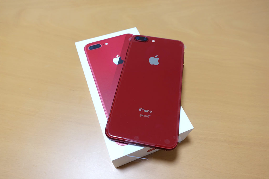 iPhone 8 Plus PRODUCT REDがキタァーー!!