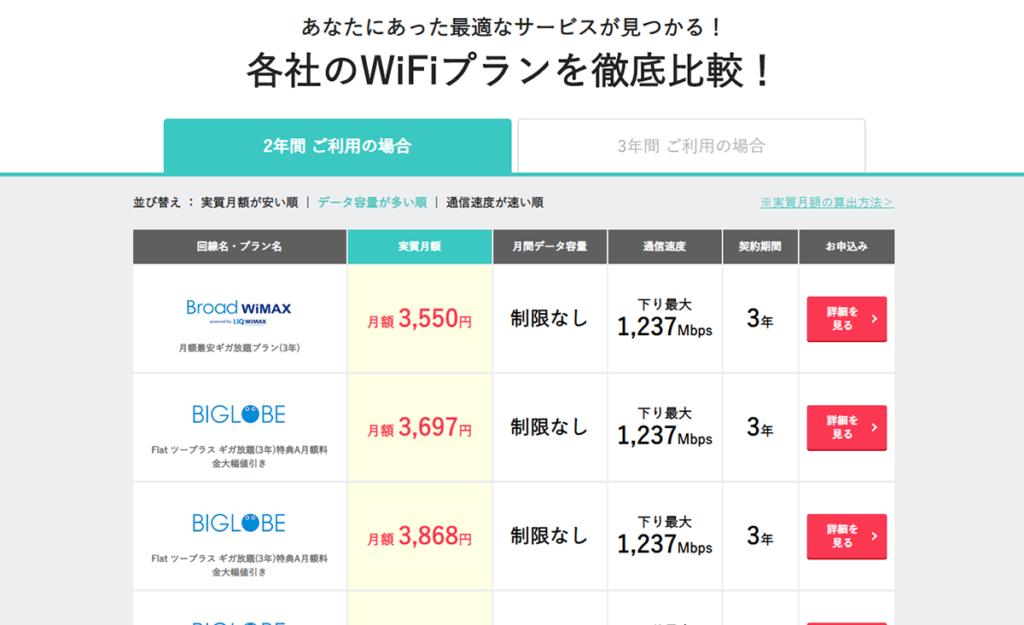 あなたにあった最適なサービスが見つかる!各社のWiFiプランを徹底比較|WiFiストア