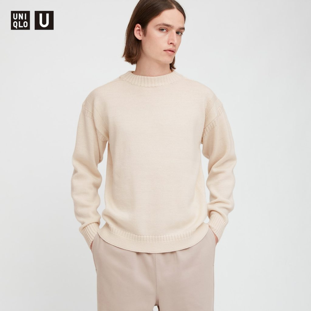 ミドルゲージモックネックセーター(長袖)|ユニクロU 2020秋冬コレクション発売直前! 管理人が気になっているものはどれ?