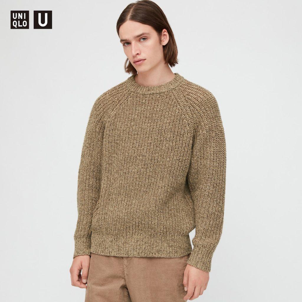 ライトウェイトローゲージクルーネックセーター(長袖)|ユニクロU 2020秋冬コレクション発売直前! 管理人が気になっているものはどれ?