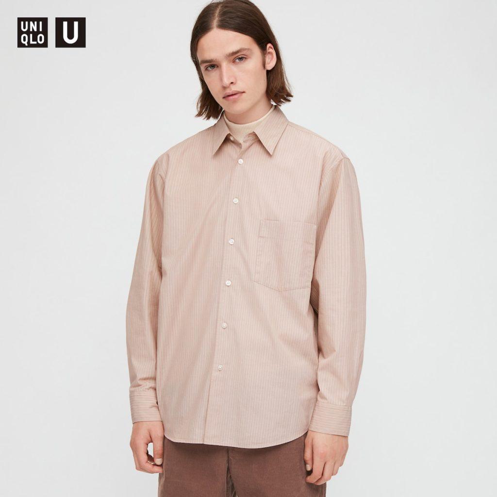 ブロードストライプシャツ(長袖)|ユニクロU 2020秋冬コレクション発売直前! 管理人が気になっているものはどれ?