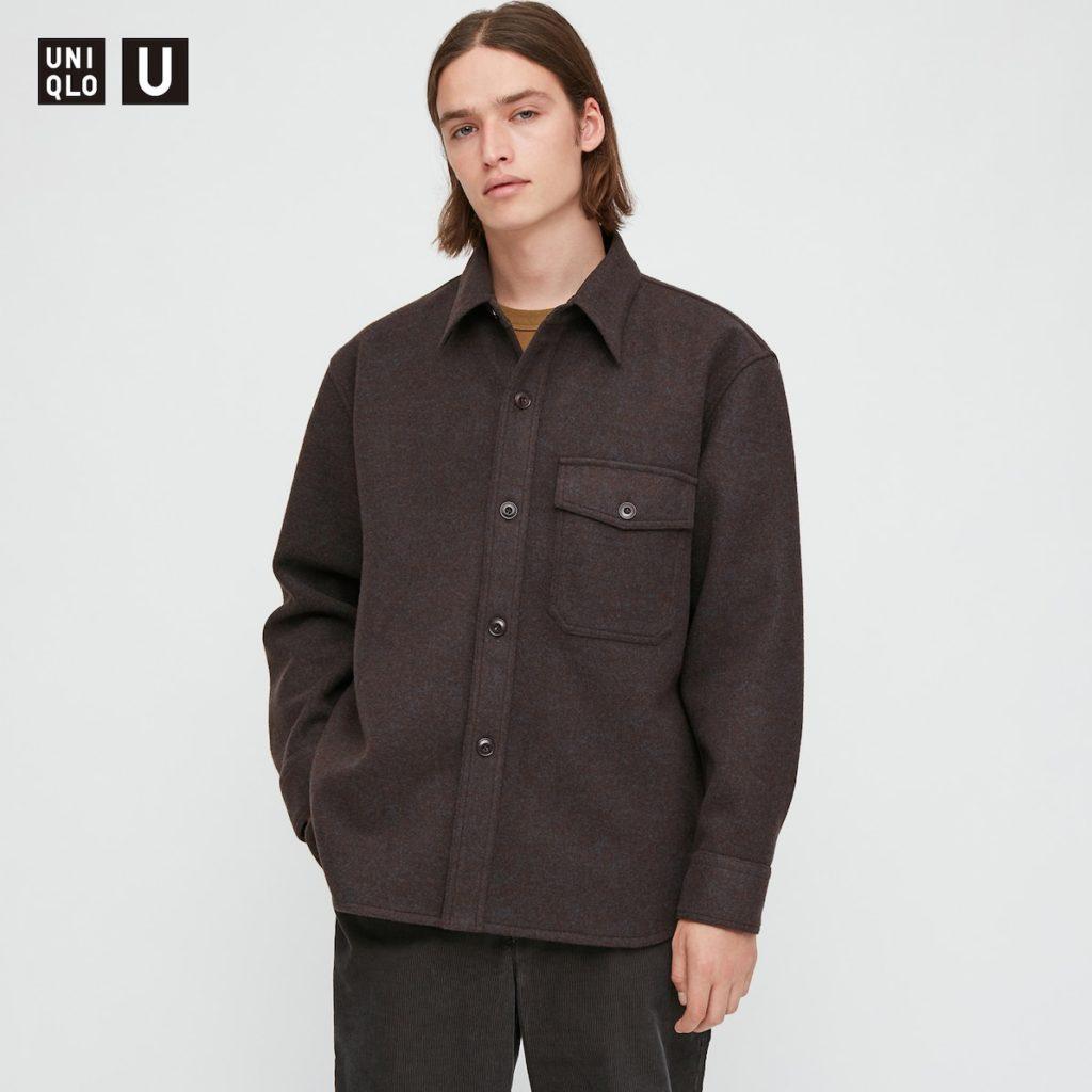 フリースシャツジャケット(長袖)|ユニクロU 2020秋冬コレクション発売直前! 管理人が気になっているものはどれ?
